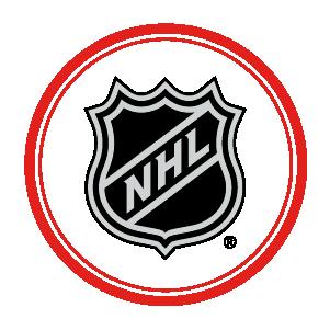 NHL logo inside red circle